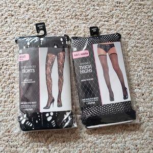 Lot of fishnet Halloween stockings